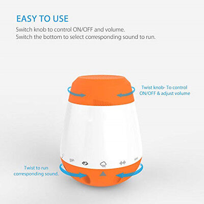 Baby Music White Noise Infants Sleep Soother Therapy Sound Machine Voice Sensor