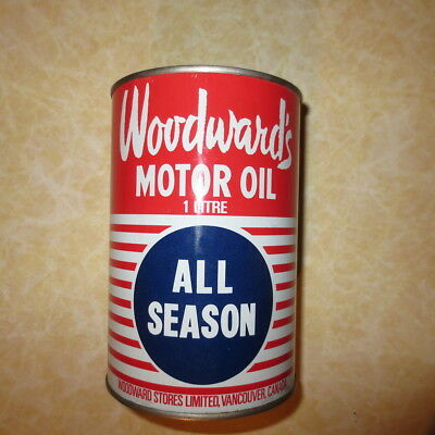 Woodwards motor oil can unopened nice