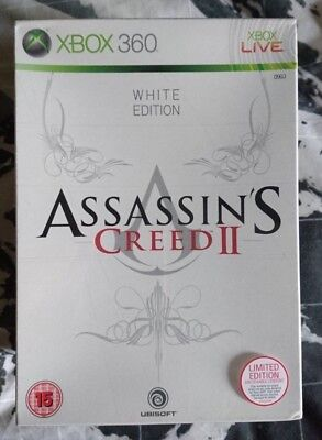 NEW ASSASSINS CREED 2 White Limited Edition (Collectors) XBOX 360