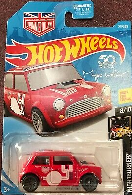 MORRIS MINI ✰blue//red;MAGNUS URBAN OUTLAW✰NIGHTBURNERZ✰2018 Hot Wheels loose