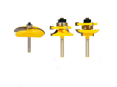 3pcs Bit Raised Panel Cabinet Door Router Bit Set 1/4 Inch Milling Cutter Tools