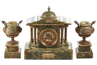 Outstanding Antique French Clock Set C.1860