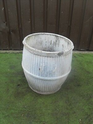 Vintage Galvanised  Dolly Tub Garden Feature, PLANTER