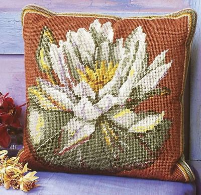 EHRMAN Kaffe Fassett WATERLILY TERRACOTTA tapestry NEEDLEPOINT KIT RETIRED