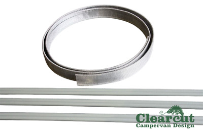 6mm to 4mm Campervan Awning Connection Kit, Suits Fiamma F45 Awning, Kadar Strip