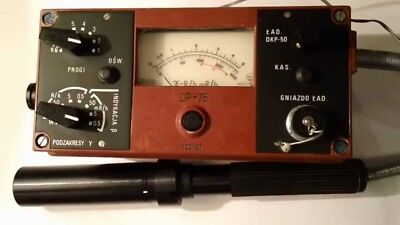 Dp75 Geiger Counter Sensitive Beta Gamma Dp-75 Radiation Detector Doi30 Doi80