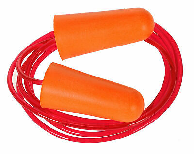 Portwest Corded PU Foam Ear Plug  200 Reusable - Noise Protection ANSI S3 EP08