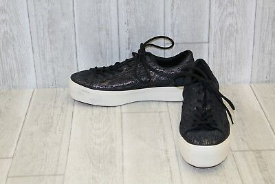 673190a2b33 NEW CONVERSE MADEME One Star Platform Ox Womens Shoes Sneakers Black ...