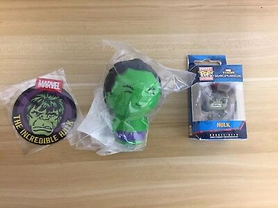 Marvel Collector Corps Incredible Hulk Pocket Pop Key Chain, Patch, Stress Dorbz