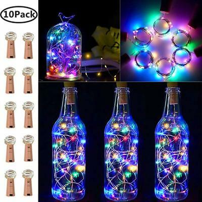 20LED Wine Bottle Cork Light Copper Wire String Lights 2M/7.2FT Battery Operated