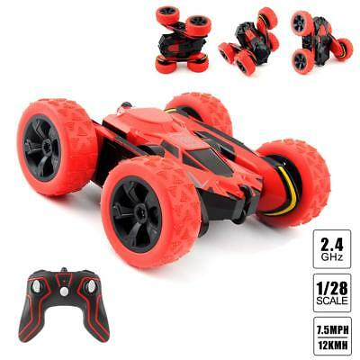 1:28 Electric Car 2.4G RC Stunt 360° Spiral Rotatable Racing Hobby Kids Toy Hot