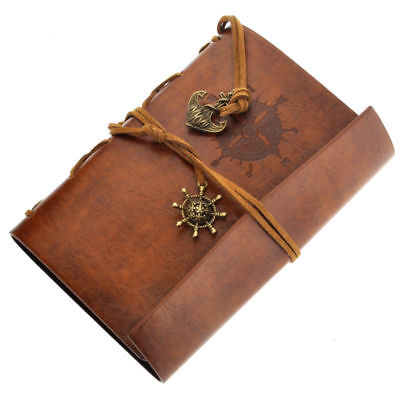 Retro Vintage PU Leather Cover Notebook Travel Journal Diary Diary Jotter BY