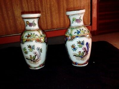 Conjunto jarrones porcelana China