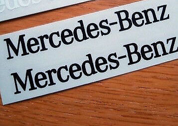 2 x Silver Mercedes_Benz  Metallic  CAR Stickers Chrome vinyl 97mm x 10 mm