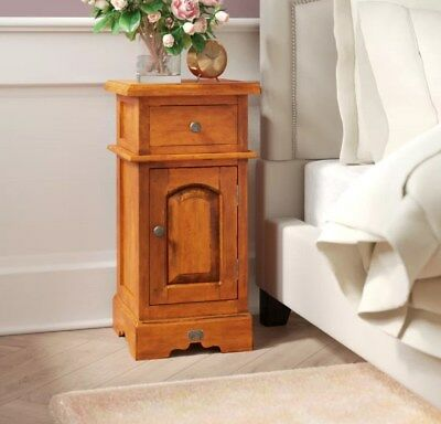 Mahogany Bedside Table Side End Cabinet Small Room Cupboard Solid Wood Furniture