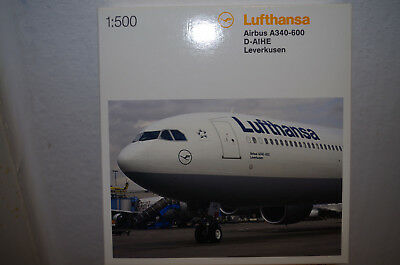 Herpa Wings Airbus A 340-600, Lufthansa, D-AIHE, 1:500