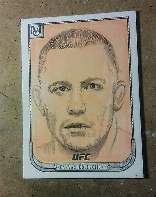 Topps '18 UFC 1 of 1 Museum Canvas Collection artist proof Georges St. Pierre