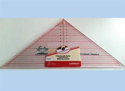 """Sew Easy clear acrylic patchwork quilt ruler 90 degree triangle 7.5"""" x 15"""""""