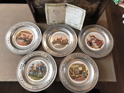 The Great American Revolution 1776-1976 Bicentennial Collection Plates