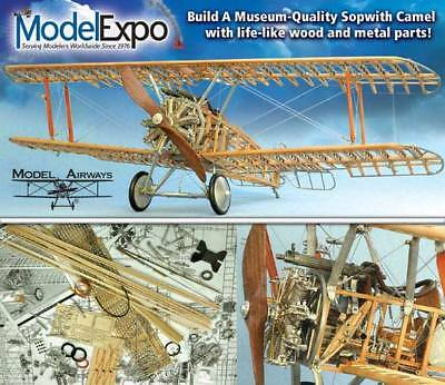 Sopwith Camel WW1 Wooden Airplane Model Kit 1:16 Scale
