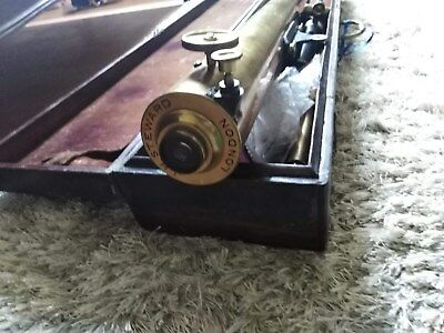 J H Steward of London Antique Brass Telescope ,Complete with Case, VeryRare,B