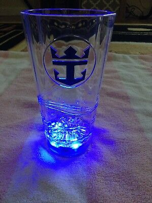 Royal Caribbean Cruise Line LED Light Up Plastic Glass Tumbler Cup Cocktail