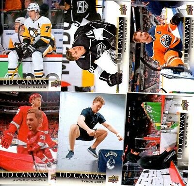 2018-19 Upper Deck Canvas Pick your singles lot 2 for $1, ea. add .50 - no ship$