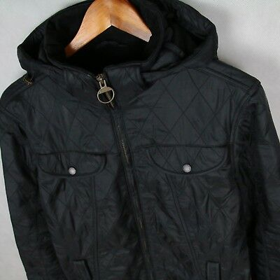 Barbour Beautiful Womens Quilted Hooded Jacket Coat Uk18 Eu44