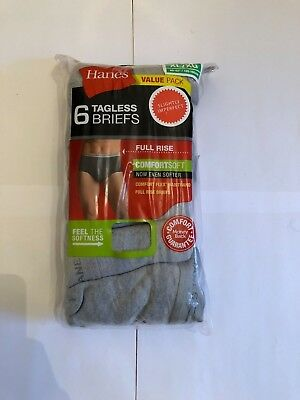 Hanes Mens Tag Less Briefs 12-Pack Assorted Colors & Bands S M L XL !!