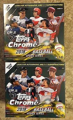 2018 Topps Chrome Update Series Lot of (2) MEGA BOXES Factory Sealed Retail Box