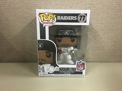 Funko Pop! Football: NFL - Oakland Raiders Marshawn Lynch # 77 New In Box