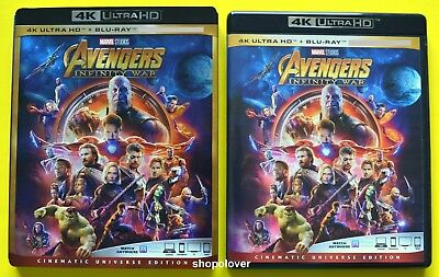 Avengers Infinity War (4K UHD/Blu-ray, 2018) - NO DIGITAL CODE - Like New