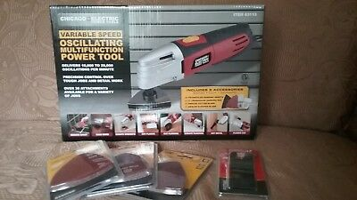 Chicago Electric Power Tools Variable Speed Oscillating 8 Multifunctions