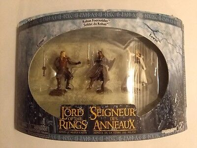 Lord of the Rings Armies of Middle Earth 3 Rohan Soldiers Action Figure Set NEW