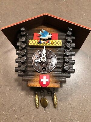 "Vintage German Cuckoo Clock Small 4"" Untested"