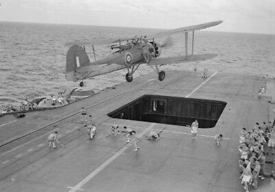 WW2 WWII Photo Royal Navy Fairey Swordfish Over Carrier  World War Two /5356