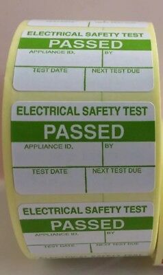 PAT Testing Labels x 1000 Passed Stickers Electrical FREE P+P