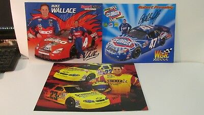 Nascar Wimmer Mike Wallace Robert Pressley Autographed 3 Piece Collector Pack