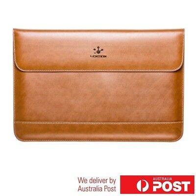 LENTION Leather Sleeve Case for 13-14 inch Laptops Macbook Air Pro HP Lenovo etc