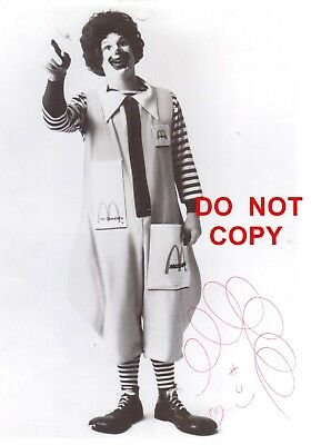 Vintage Ronald McDonald Autographed Photo and Letter