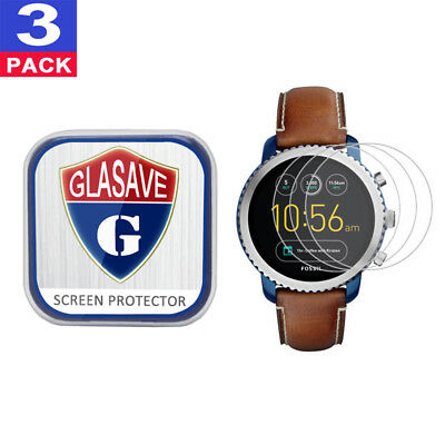 (3Pack) GLASAVE Tempered Glass Screen Protector For Fossil Q Explorist Gen 3