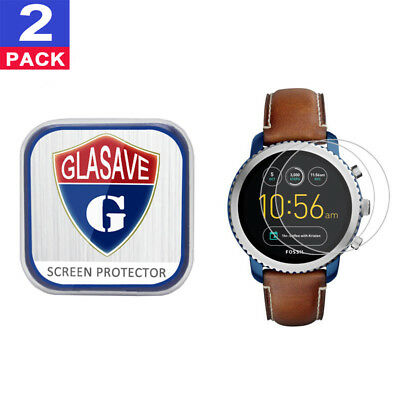 (2Pack) GLASAVE Tempered Glass Screen Protector For Fossil Q Explorist Gen 3
