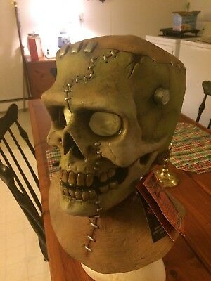 """Halloween Mask Trick Or Treat Studios """" Frankenskull"""" With Tags"""