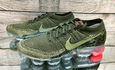 d4485d209628 Nike Air Vapormax Flyknit C Olive Camo AH8447-201 Running Shoes Men s Multi  Size