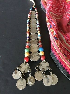 Old Persian Tribal Scarf Hold down with Coins & Beads …beautiful collection...