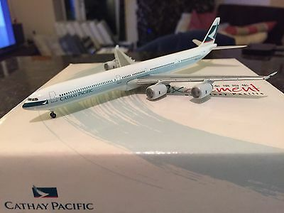 Herpa Wings - Cathay Pacific Airways A340-600 Reg B-HQB Scale 1:500