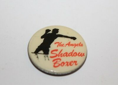Vintage The Angels Shadow Boxer Badge Music Collectable