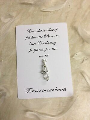 Baby Loss Gift, Simple Miscarriage Gift, Angel Baby Charm, Clear Angel Clip