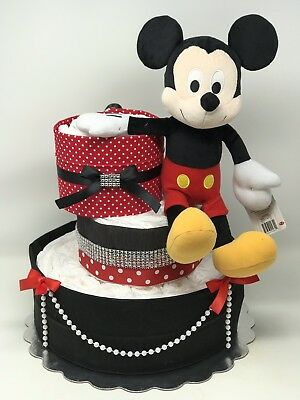 Mickey And Minnie Diaper cake For Girl And Boy Baby Shower,Gender Party Babygift