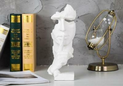 Face Sculpture Statue Abstract Modern Art Deco & free shipping